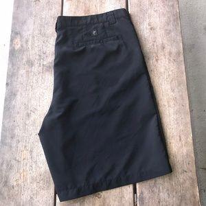 Ashworth Black Textured Golf Shorts Lighweight 40W